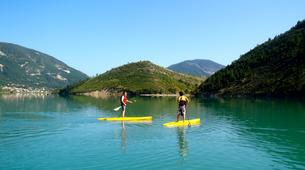 Stand Up Paddle-Gorges du Verdon-Stand-Up Paddle sur le lac de Castillon, près des Gorges du Verdon-1