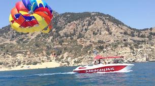 Parasailing-Rhodes-Parasailing flight from Tsambika Beach in Rhodes-1