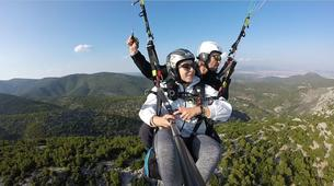 Paragliding-Athens-Tandem paragliding flight in Plataies near Athens-4