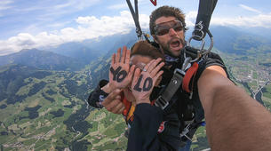 Skydiving-Interlaken-Tandem skydive over Interlaken, Switzerland-5
