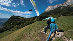 Paragliding-Grenoble-Tandem paragliding flight over Saint Hilaire du Touvet, Grenoble-5