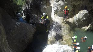 Canyoning-Sierra de las Nieves Natural Park-Canyoning at Zarzalones Gorge in Sierra de las Nieves, near Málaga-6