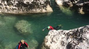 Barranquismo-Verdon Gorge-Aquatic family trekking in Castellane, Verdon Gorge-6