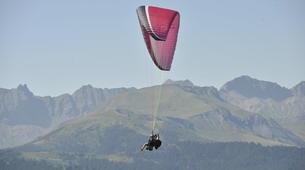 Parapente-Megève, Evasion Mont Blanc-Vol découverte parapente en tandem, Megève, massif du Mont-Blanc-3