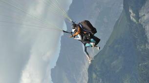 Parapente-Megève, Evasion Mont Blanc-Vol découverte parapente en tandem, Megève, massif du Mont-Blanc-4