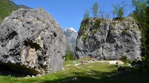 Klettern-Bovec-Rock climbing session near Bovec-1