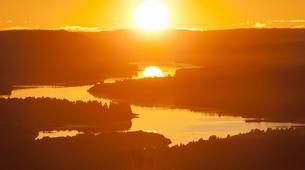 Kayak-Rovaniemi-Canoeing under the Midnight Sun near Rovaniemi, Finland-3
