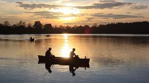 Kayak-Rovaniemi-Canoeing under the Midnight Sun near Rovaniemi, Finland-1