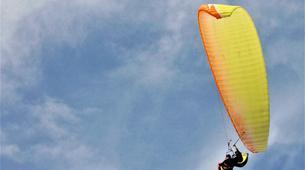 Parapente-Lagos-Tandem paragliding over Praia do Porto de Mós in Lagos-4