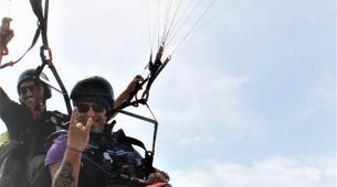 Parapente-Lagos-Tandem paragliding over Praia do Porto de Mós in Lagos-3