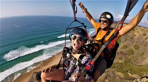 Parapente-Lagos-Tandem paragliding over Praia do Porto de Mós in Lagos-1