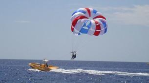 Parachute ascensionnel-Puerto del Carmen, Lanzarote-Vol en Parachute ascensionnel à Puerto del Carmen, Lazarote-2