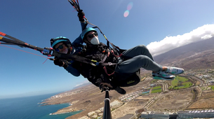Paragliding-Costa Adeje, Tenerife-Highest tandem paragliding flight in Europe from Mount Teide, near Costa Adeje-3
