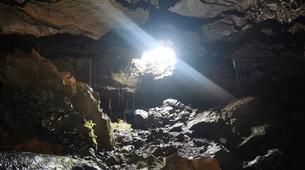 Caving-Piton de la Fournaise-Caving excursion in the 2004 Lava Tube in Reunion Island-7