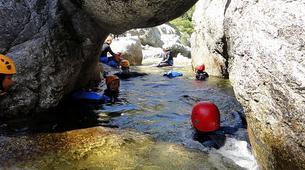 Canyoning-Corte, Centre Corse-Descente du canyon du Petit Vecchio près de Corte, Haute Corse-3