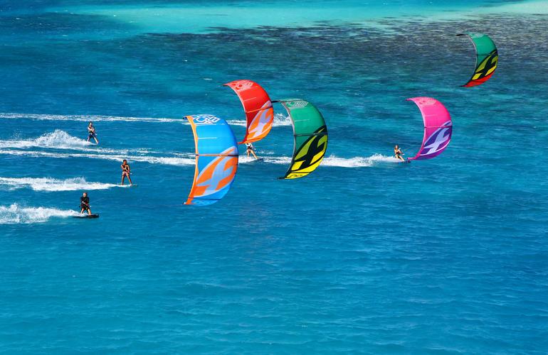 kitesurf à Bois Jolan en Guadeloupe