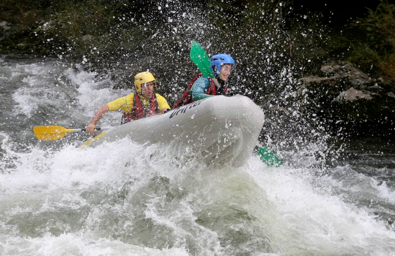 Whitewater river rafting as a gift