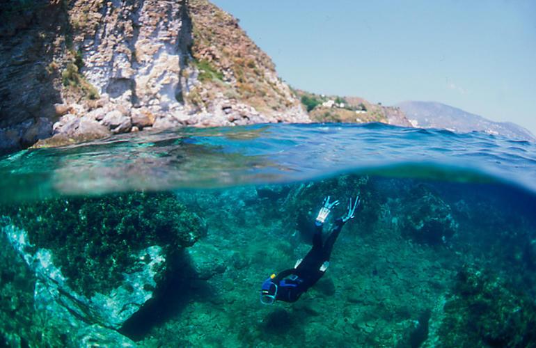 Scuba diving in the Aeolian Islands