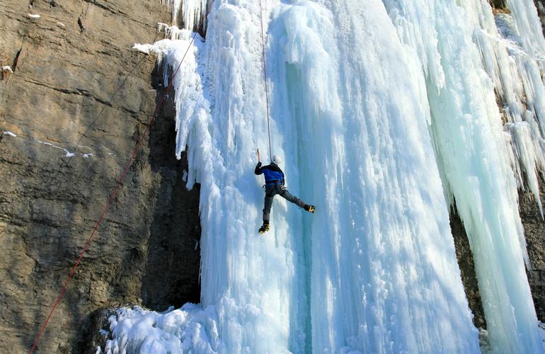 ice climbing as a gift