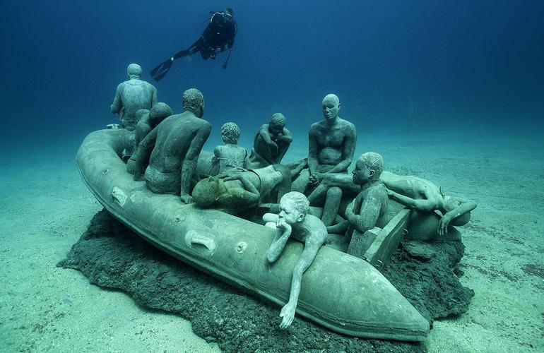 Plongée Musee Atlantique Sous-Marin de Lanzarote