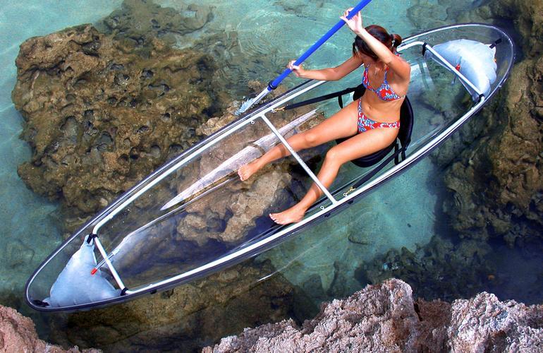 Kayak dans le lagon de Saint-Gilles sur l'Ile de la Réunion
