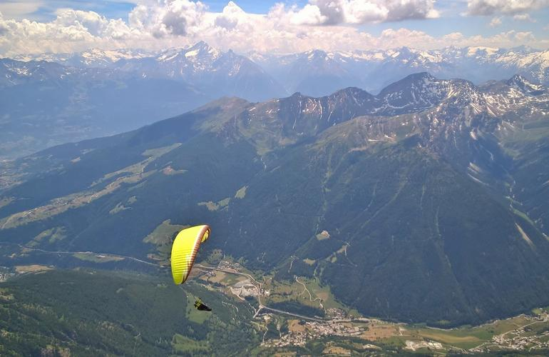 Paragliding in the Aosta Valley Italy