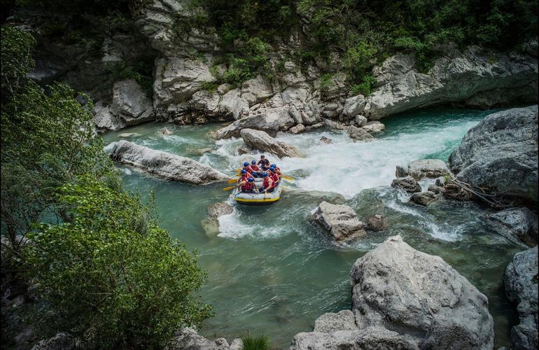 Rafting down the Gorges du Verdon
