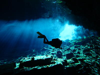 Scuba Diving: PADI Advanced Open Water cavern diving course in Kefalonia