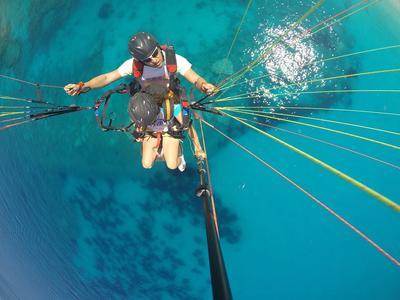 Paragliding: Tandem Paragliding Flight over Myrtos Beach, Kefalonia