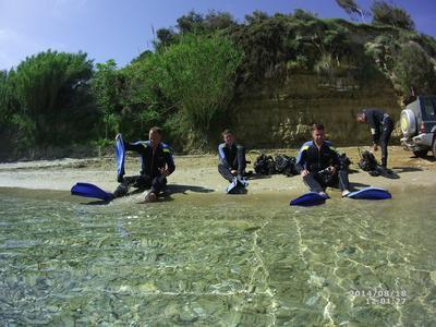 Guided adventure dives in Zante, Greece