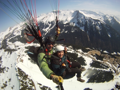 Tandem paragliding flight in Morzine - Avoriaz