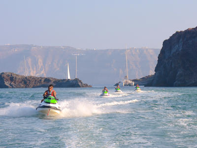 Jet Ski Safari from Perivolos Beach, Santorini