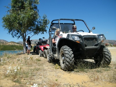 Quad biking: Quad and buggy excursion from oceanside Rethimno