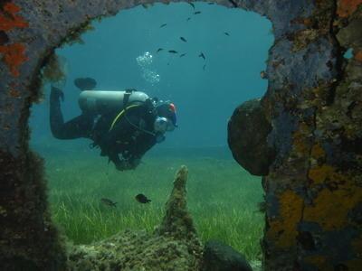 Scuba Diving: Shipwreck scuba diving in Kythnos