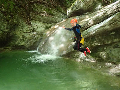 Canyon of Angon in Annecy