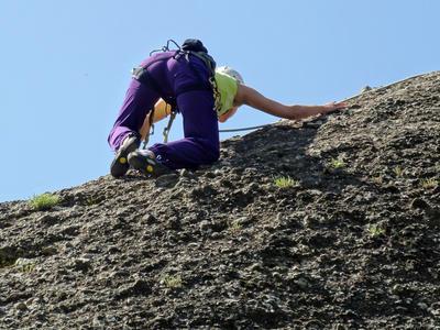 Rock climbing: Rock climbing session in Meteora