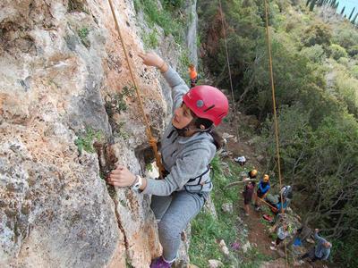 Rock climbing: Introduction to rock climbing in Kardamili, Kalamata