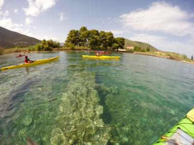 Ancient Sunken City kayak tour in Epidavros