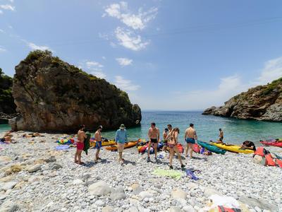 Sea Kayaking: Sea Kayak tour in Kardamili and Stoupa, Messinia