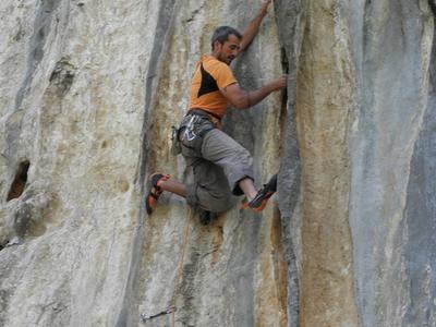 Rock climbing: Rock climbing session in Lagada, Kalamata