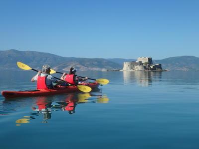 Sea kayak excursions in Nafplio