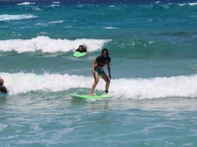 Surfing: Surfing lesson at Messakti beach, Ikaria