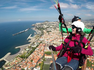 Tandem paragliding in Funchal, Madeira