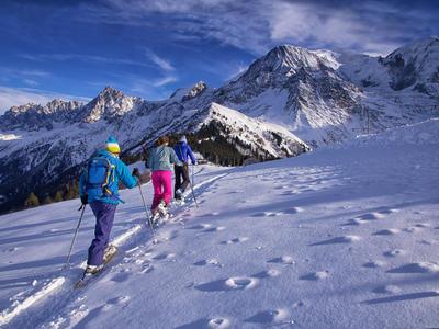 Snowshoeing excursion in Chamonix Mont-Blanc