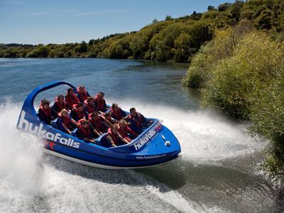 Huka Falls Jet Boat ride in Taupo