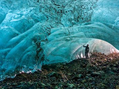 Ice Caving on the Apusiajik glacier in Greenland