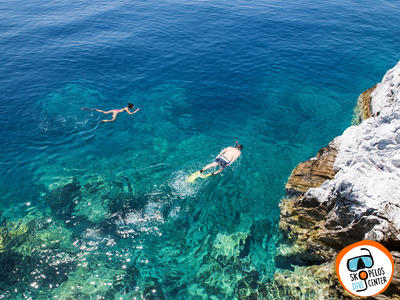 Snorkeling boat excursion around Skopelos