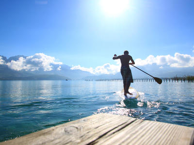 Stand up paddle rental on Lake Annecy