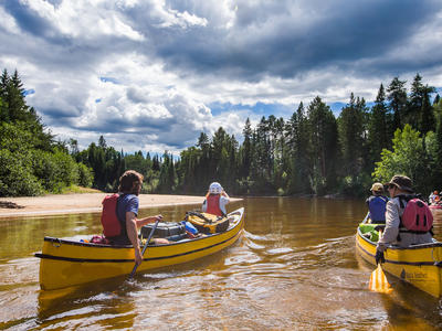 Canoeing excursion in Swedish Lapland