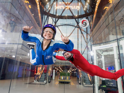 First time indoor skydiving in Paris